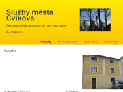 WEBOVÁ STRÁNKA Služby města Cvikova s.r.o.