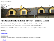 WEBOVÁ STRÁNKA Tomáš Malecký - pokrývačské, klempířské a tesařské práce