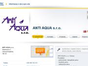 WEBOVÁ STRÁNKA Anti Aqua s.r.o.
