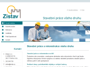WEBOVÁ STRÁNKA ZISTAV s.r.o.