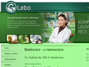 WEBOVÁ STRÁNKA LEBO, s.r.o. Boskovice - u nemocnice