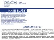 Strona (witryna) internetowa BoBaStav s.r.o.