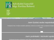 WEBOVÁ STRÁNKA Mgr. Pavlína Řehová advokátní kancelář Zlín