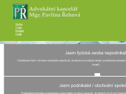 PÁGINA WEB Mgr. Pavlina Rehova advokatni kancelar Zlin