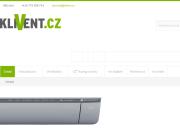 WEBOVÁ STRÁNKA Klivent.cz Prodej, montáž klimatizace a ventilátorů
