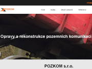 WEBOVÁ STRÁNKA POZKOM, s.r.o. Opravy a rekonstrukce komunikací Praha