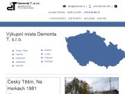 WEBOVÁ STRÁNKA Demonta T, s.r.o. Výkup papír a barevných kovů Jablunkov