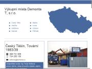 WEBOVÁ STRÁNKA Demonta T, s.r.o. Železo a barevné kovy Kladno