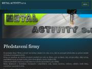WEBOVÁ STRÁNKA METAL ACTIVITY s.r.o.