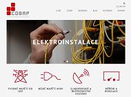 WEBOVÁ STRÁNKA COBAP s.r.o. Služby v oblasti elektroinstalace Praha