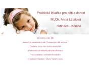 WEBOVÁ STRÁNKA MUDr. Anna Látalová - dětská lékařka BAMEDILA s.r.o.