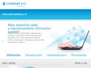 WEBOVÁ STRÁNKA Cinesnet Pro s.r.o.
