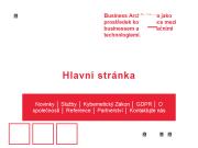 WEBOVÁ STRÁNKA Datacons, s.r.o.