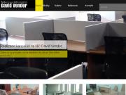 WEBOVÁ STRÁNKA David Vender - realizace kanceláří Praha