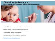 WEBOVÁ STRÁNKA Dětská ambulance s.r.o.