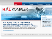 WEBOVÁ STRÁNKA HAL KOMPLEX s.r.o.