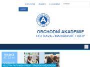 WEBOVÁ STRÁNKA Obchodní akademie a Vyšší odborná škola sociální, Ostrava-Mariánské Hory, příspěvková organizace