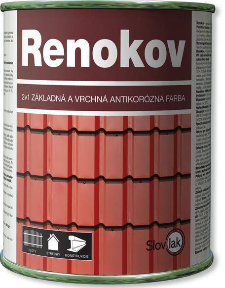 Speciální antikorozní barva Renokov - na střechy, ploty, brány