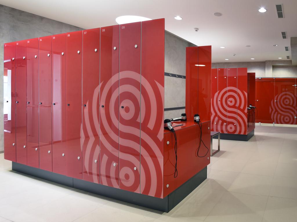Glass cloth lockers for water parks, wellness, spas, saunas, the Czech Republic