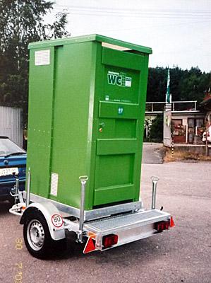 Vlek pro venkovní mobilní toalety