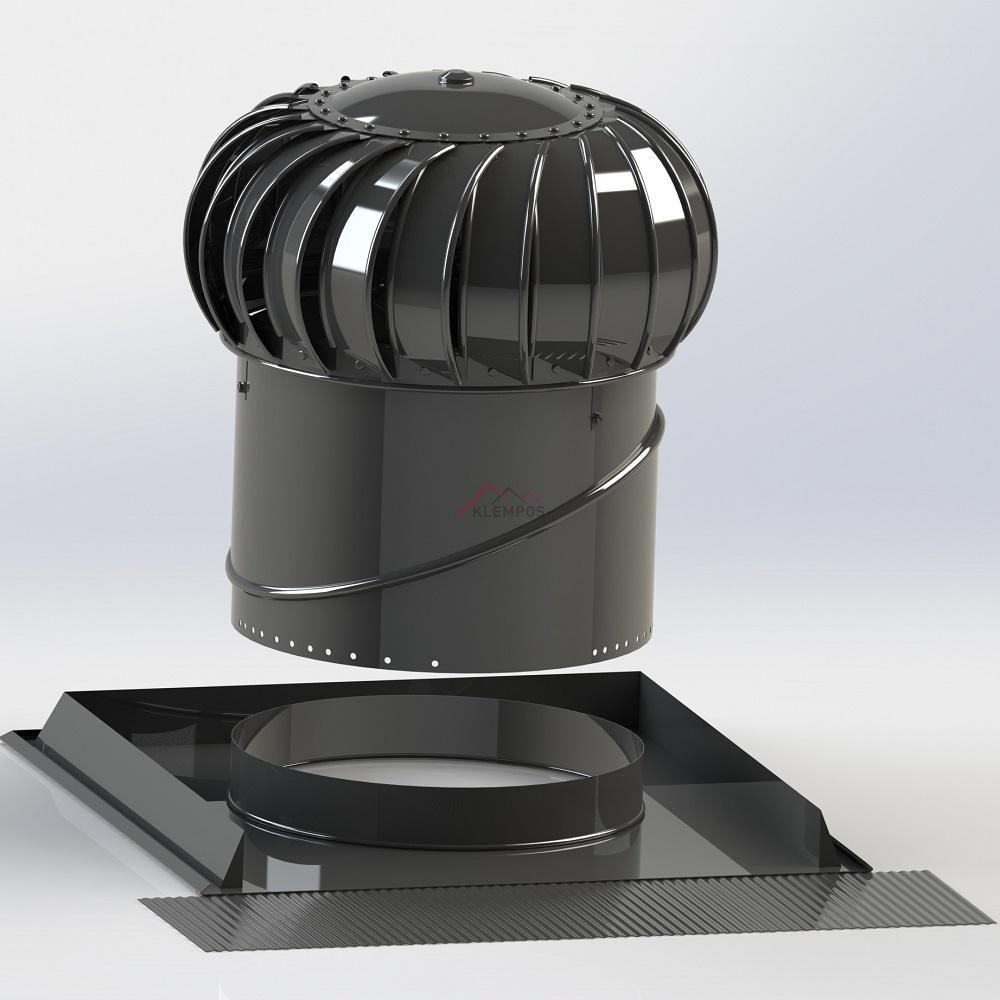 Střešní ventilační turbína Edmonds, Lomanco - odvětrávací turbíny pro rodinné domy, průmyslové budovy