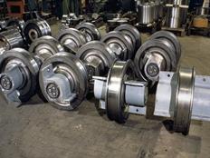 Xtek Europe, s.r.o., vyrábí jeřábová kola, soustavy kol, hřídele, spoejky