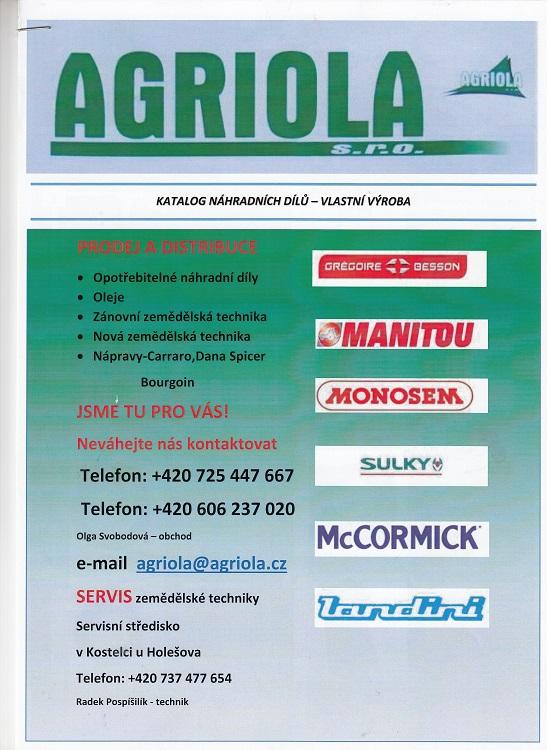 Výroba náhradných dielov pre poľnohospodárske stroje Česká republika - Gregoire-Besson, Joskin, Sulky