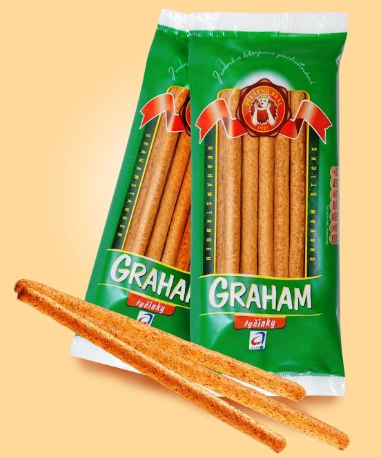 Grahamové tyčinky vhodné na oslavy - k pomazánkám, uzeninám a sýrům