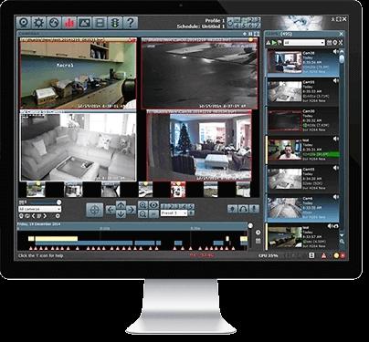 Střežení kamerovým systémem se spolehlivou identifikaci pachatele