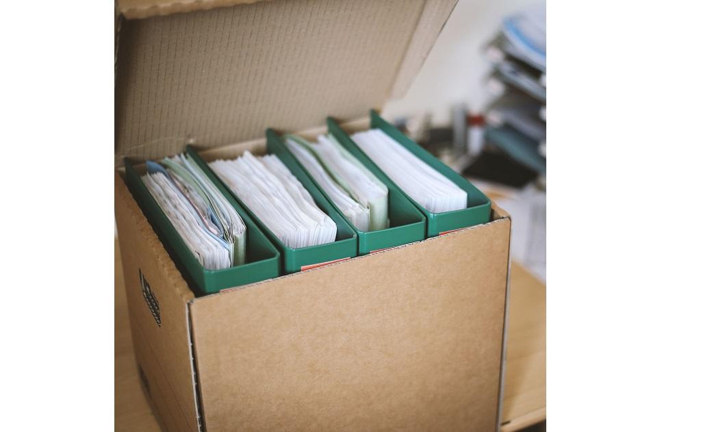 Kancelářské krabice - kartonové archivační krabice, boxy a pořadače do kanceláře