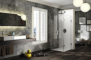 Vybavení koupelny, sanitární technika, sprchové vany, zástěny, koupelnové studio, e-shop