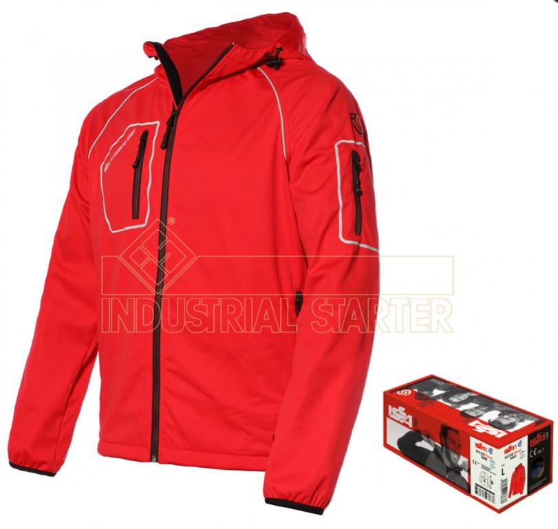 Novinka - lehká softshellová bunda THINY s karabinou k zavěšení na batoh, poutko kalhot
