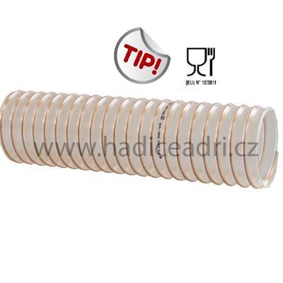 Odsávací hadice na abrazivní materiály a granuláty pro potravinářství, farmacii, zemědělství