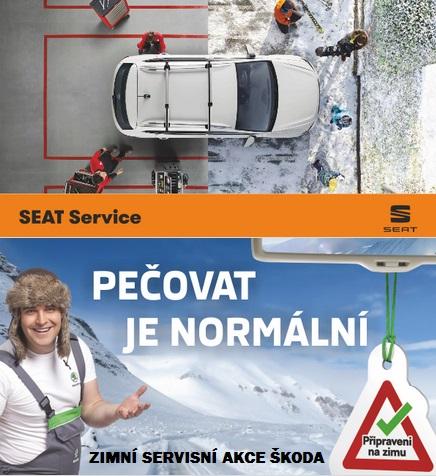 Zimní servisní akce Škoda, VW, Audi, Seat - sezónní prohlídka vozu podzim, zima