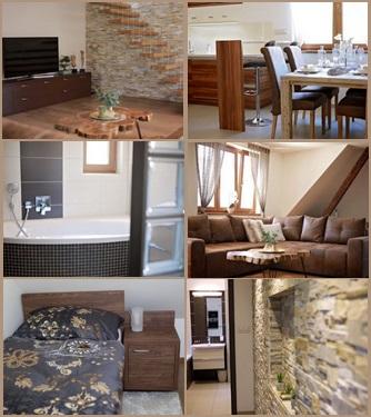 mezonetový byt v penzionu - luxusní ubytování Zlín
