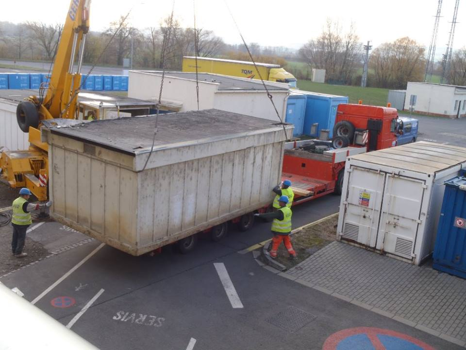 Pronájem kontejnerů na stavební odpad a suť - velkoobjemové kontejner