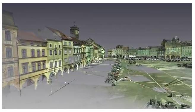 Laserové skenování budov a fasád