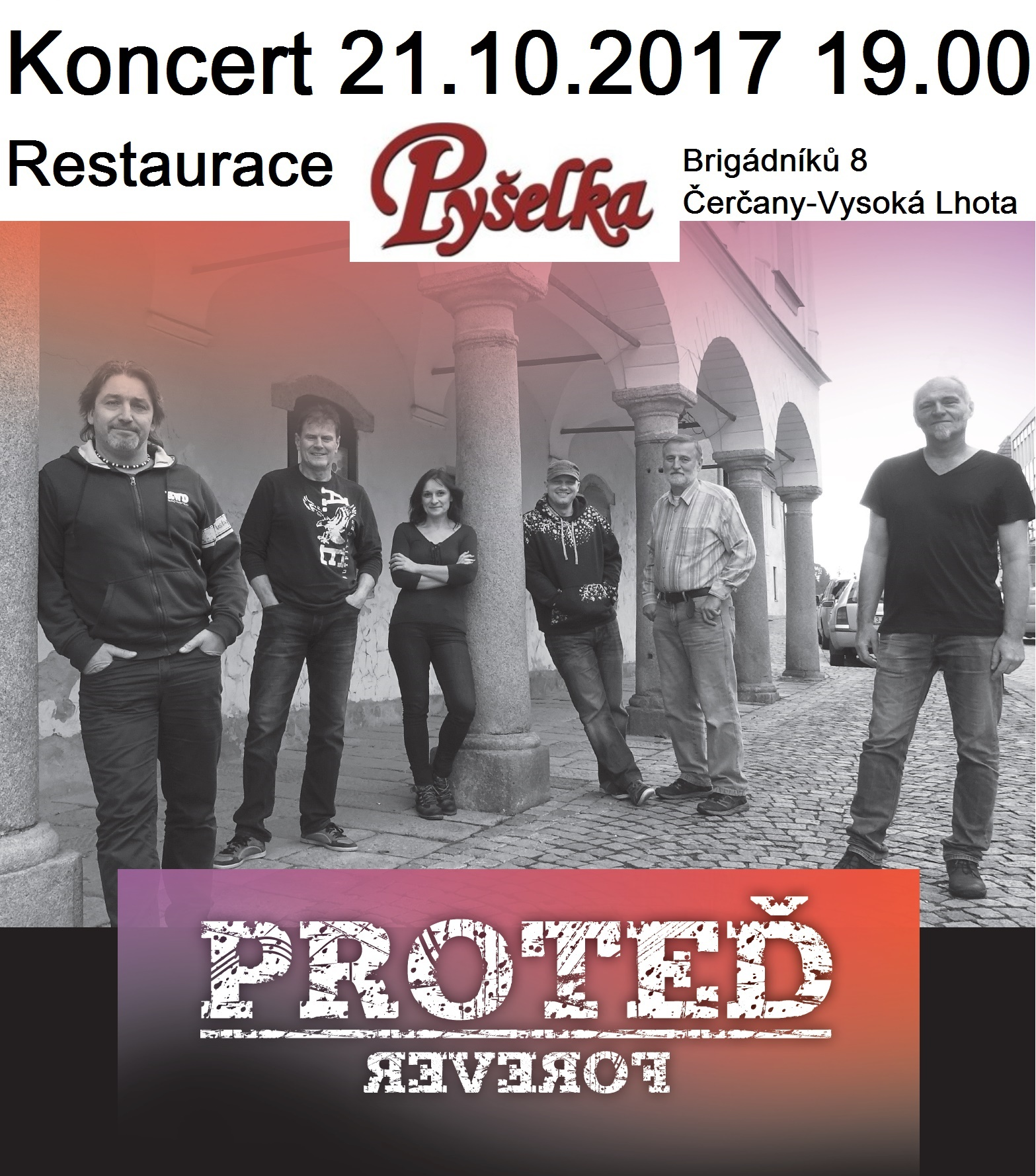 Skupina Proteď - koncert Pyšelka 21.10.2017