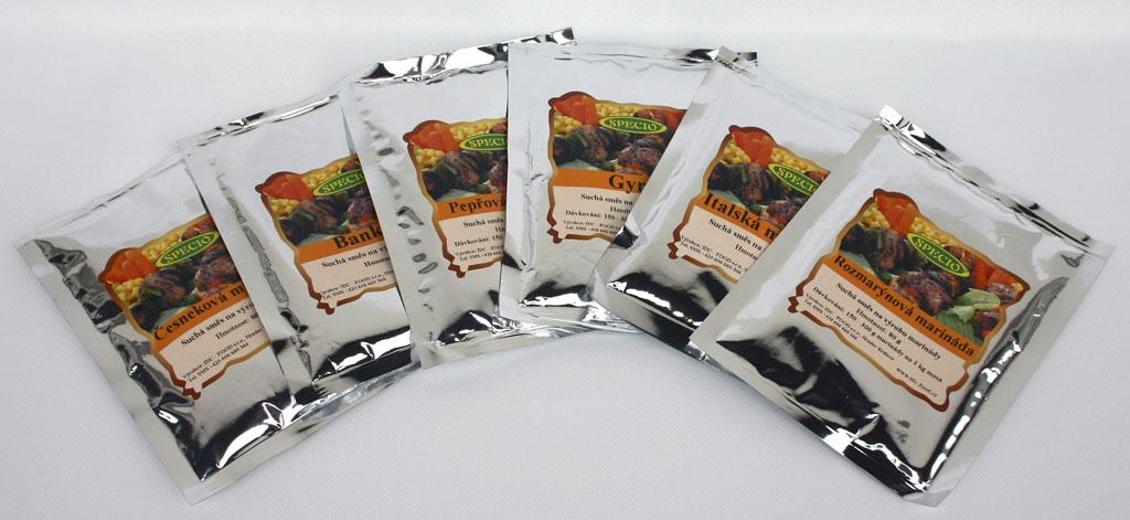 Velkoobchod prodej přírodní koření, směsi koření bez glutamátu