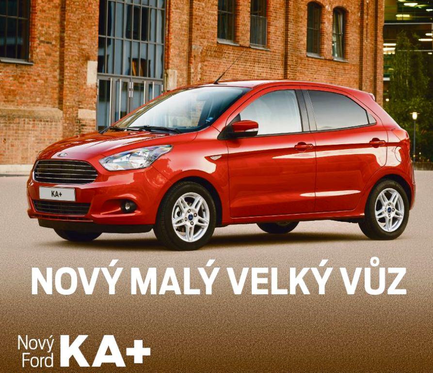 Ford KA+ Zlín - prostorný vůz s bohatou výbavou , sadou zimních pneumatik a testovací jízdou zdarma