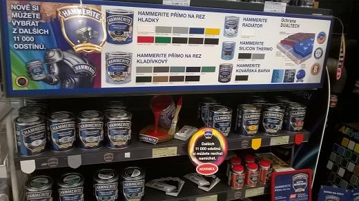 Barvy na kov a rez Hammerite, vhodné na kovové ploty, zábradlí a střechy - míchání různých odstínů