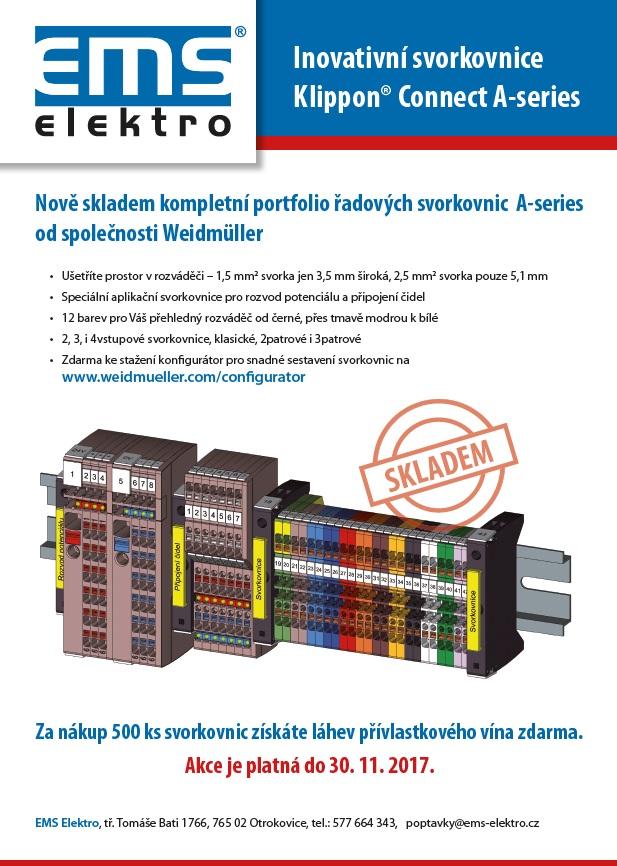 Spolehlivé řadové svorkovnice pro výrobu rozváděčů Weidmueller - přehledné uspořádání, robustní provedení