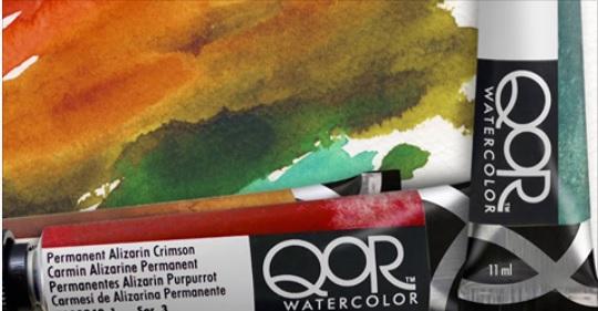 Akvarelové barvy QoR v tubách o objemu 11 ml pro jasnější obrazy