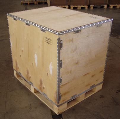 Výroba dřevěné obaly s fólií rozkládací pevné boxy palety Hradec