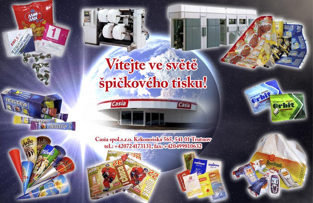 Obaly pro potravinářský kosmetický farmaceutický průmysl Trutnov