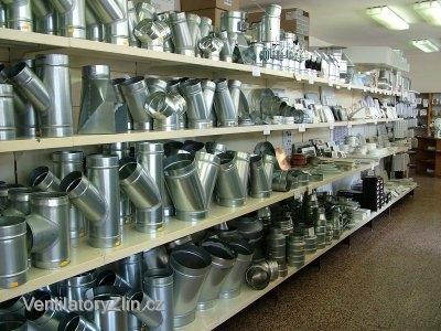 podrubí, příslušenství pro vzduchotechniku - prodejna Zlín