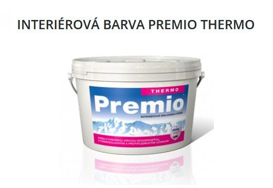 otěruvzdorná bílá interiérová malířská barva Premo Thermo