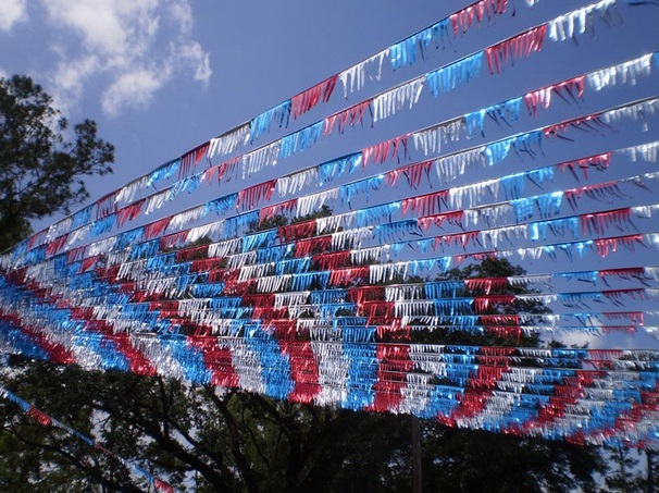 Production, e-shop metallic fringes, pennants for used car dealers - against birds, for advertising purposes Czech Republic