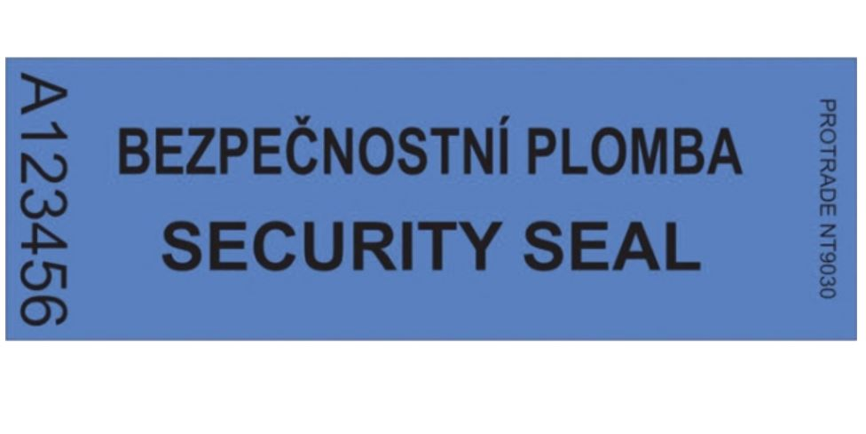 Bezpečnostní fóliová plomba pro přepravu zásilek