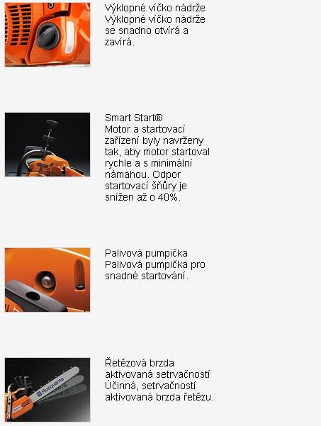 Typ benzínové motorové pily - její funkce, Brno Černovice